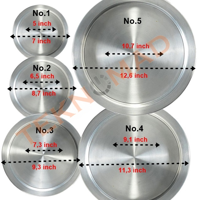 Kunefe Plate Service Plate Presentation Dessert Service Tray, Stainless Aluminum Gaziantep, Hatay, Original Made In TURKEY