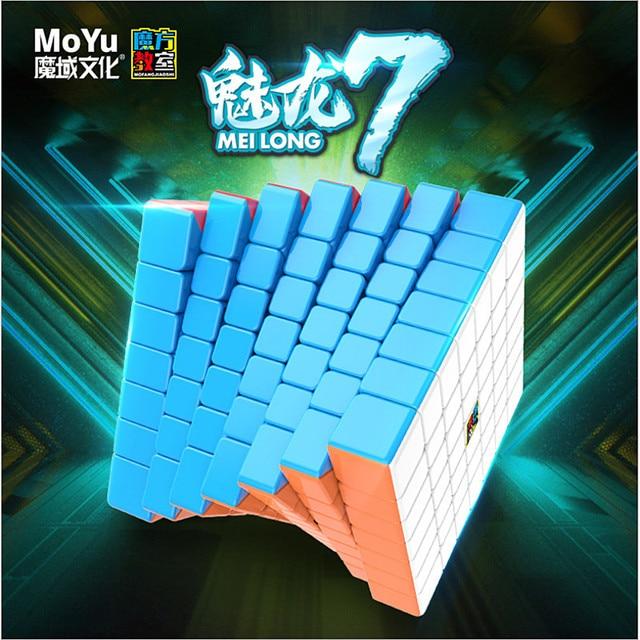 Moyu meilong 7x7x7 קוביית קסם 7x7 פאזל cubo magico צעצועים חינוכיים תחרות קוביות מהירות קובייה