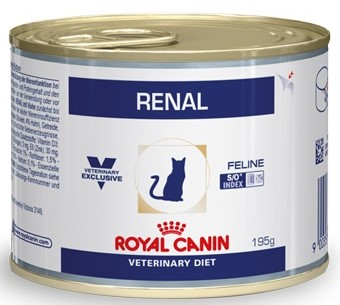 Royal Canin Renal Canned Cat When Chronic Renal Failure (паштет 195g.), 12 PCs