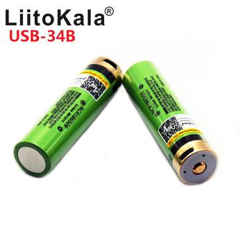 2019 LiitoKala USB 3 7V nowy oryginalny NCR18650B 3 7 v 3400ma Li-ion akumulator na USB z lampka kontrolna LED dc-ładowanie tanie i dobre opinie LiitoKala USB-34B 3001-3500 mAh Baterie Tylko Pakiet 1 1-10