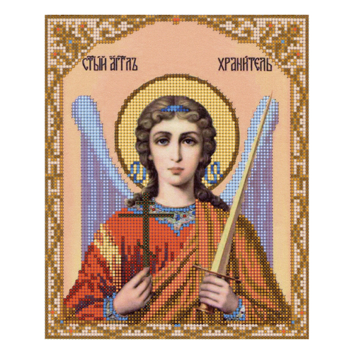 4010 Fabric With Printed Pattern For Embroidery Beaded 'Angel Keeper '25*30 Cm