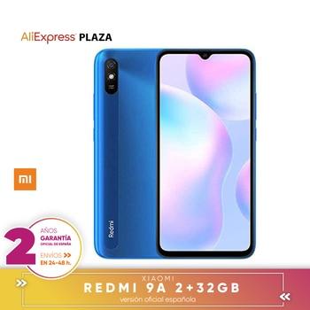 """Перейти на Алиэкспресс и купить [Официальная испанская гарантия версия] Смартфон Xiaomi Redmi 9A 2 ГБ 32 ГБ 5000 мАч MediaTek Helio G25 6,53 """"HD 13MP"""