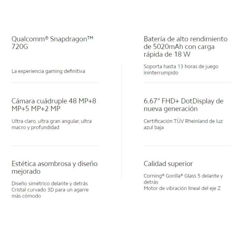 Xiaomi Redmi Note 9S (64GB ROM con 4GB RAM Snapdragon™ 720G Android Nuevo Móvil) [Teléfono Móvil Versión Global para España]