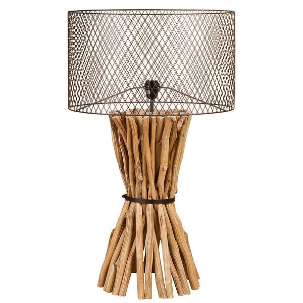 Desk Lamp Wood (48 X 48 X 88 Cm)