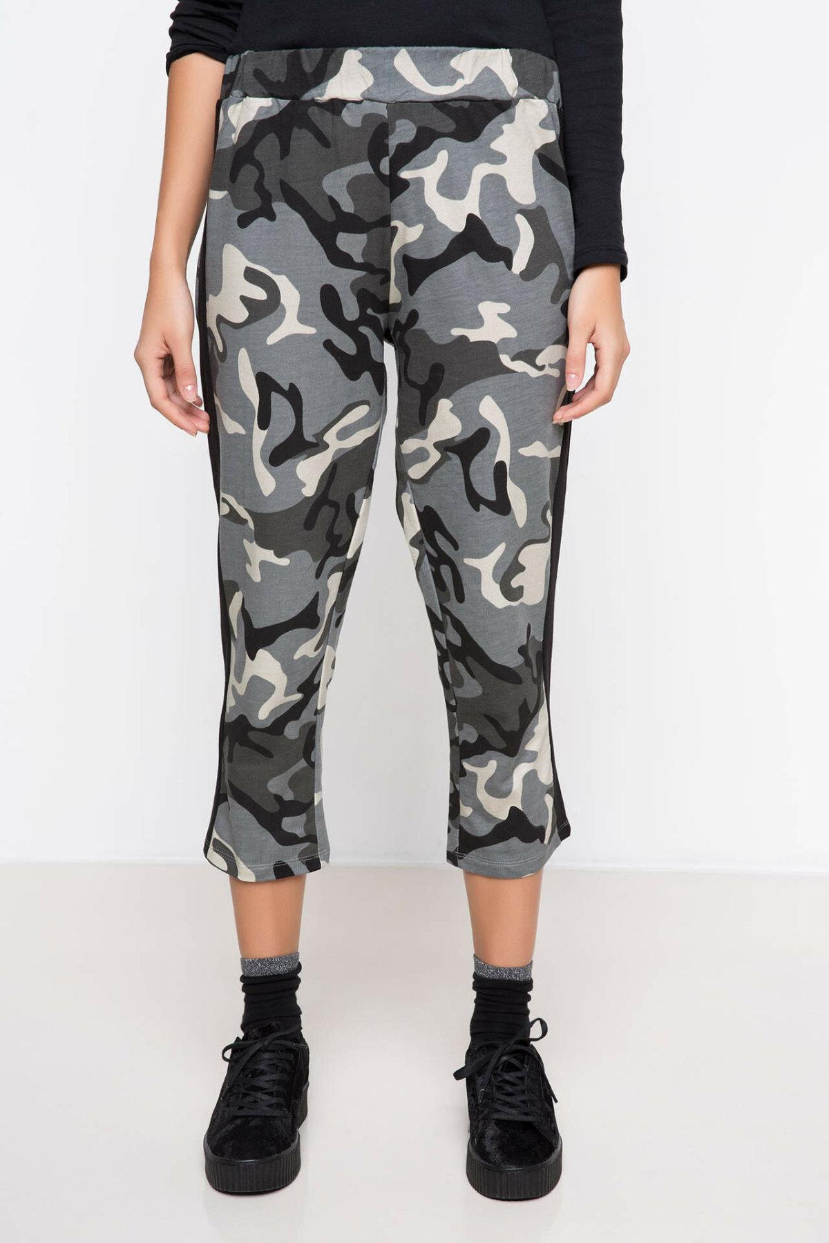 DeFacto Woman Stylish Camouflage Prints Pants Women Elastic Long Pants Female Casual Bottoms Trousers-H9327AZ17HS