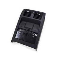 Black Rear Armrest Console Air Vent Panel For VW Passat B6 / CC