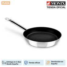 Monix Chef Non-Stick-18/10 stainless steel pan with non-stick 18 20 24 28 cm. Induction vitroceramic gas cooker