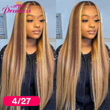Human-Hair-Wigs Closure Wig Lace-Frontal Preplucked Straight Hd Transparent Brazilian