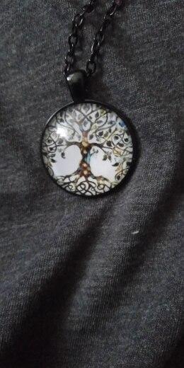 Collier arbre de vie en verre
