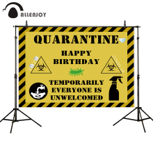 Allenjoy quarantine backdrop photocall Happy Birthday temporarily everyone is unwelcomed baby Custom background photography