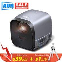 Aun mini projetor portátil l1 | projetor de vídeo led beamer para 1080p teatro em casa | tela de espelhamento para telefone inteligente (opcional)