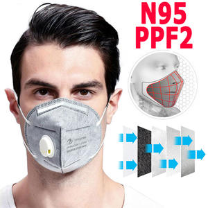 100pcs N95 Mask FFP3 Mask with breathing valve Dustproof Anti-fog Breathable Face Mask 95% Filtration KN95 Features as KF94 FFP2