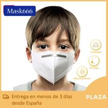 10u/20u/50u Mascarilla ffp2 niño de 4 capas antisalpicaduras con envio desde españa mask666