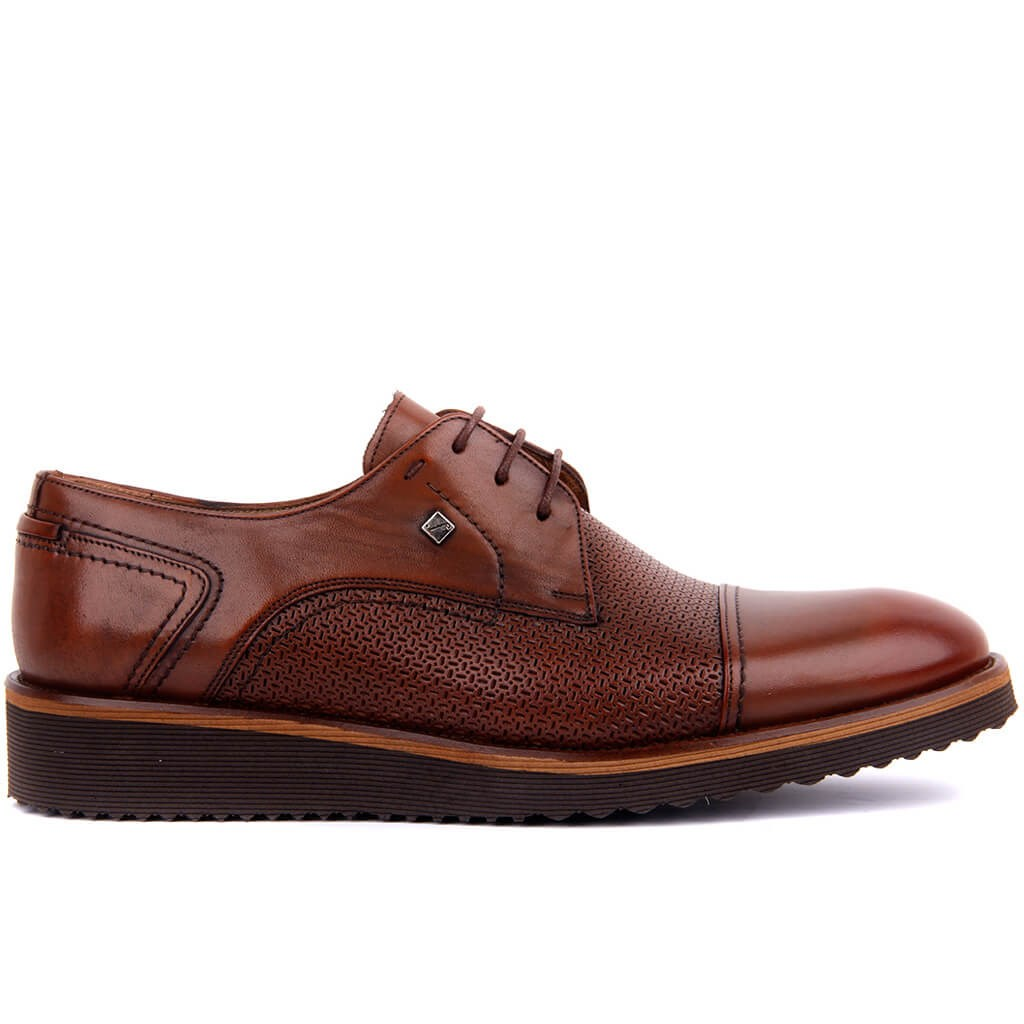 Fosco-Tan Leather Men 'S Casual Shoes