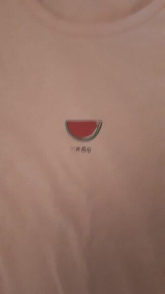 Toyouth Watermelon Printed Female T shirt Women Summer Basic Cotton Tee Shirt Femme Pink Women Clothes 2019 fashion tees summer t shirtwatermelon print - AliExpress
