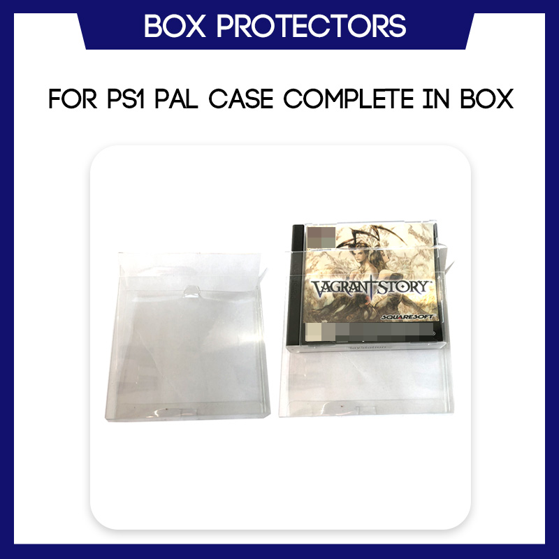 Box Protector For PS1 PAL Case CIB (NTSC JAPAN) Game Custom Clear Plastic Case