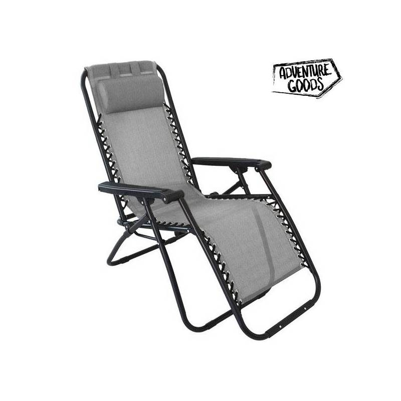 Lounger Adventure Goods 98523 (110x73x67 Cm) Gray
