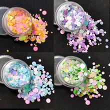 1 box DIY Round Flake Nail Art Glitter Sequins Nail supplies Tips Manicure Pink Blue Green 3d Nail Accessories for Gel UV Design недорого