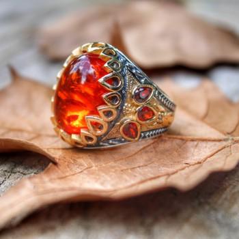 Męski pierścionek 925 srebro pierścionek z kamieniem Wedding Man Rings biżuteria męska pierścionki dla mężczyzn pierścionki dla kobiet męskie pierścionki mężczyzn biżuteria tanie i dobre opinie turkishsilver 925 sterling TR (pochodzenie) Mężczyźni Bursztyn Grzywny Cyrkon 2554781-896 TRENDY CNAS