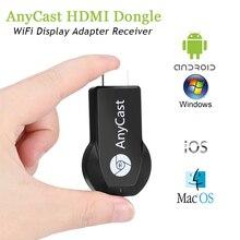 Anycast M2 Plus Miracast Mi TV Stick bezprzewodowy HDMI 1080P wyświetlacz Wifi DLNA Chromecast Youtube żadnej obsady TV Stick z systemem Android