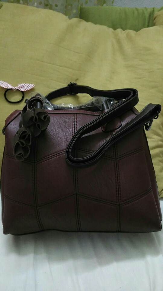 Genuine Leather Luxury Handbags Women Bags Designer Hand Bags Women Shoulder Crossbody Messenger Bag Casual Tote photo review
