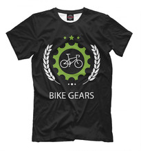 Males's T-shirt bike gears