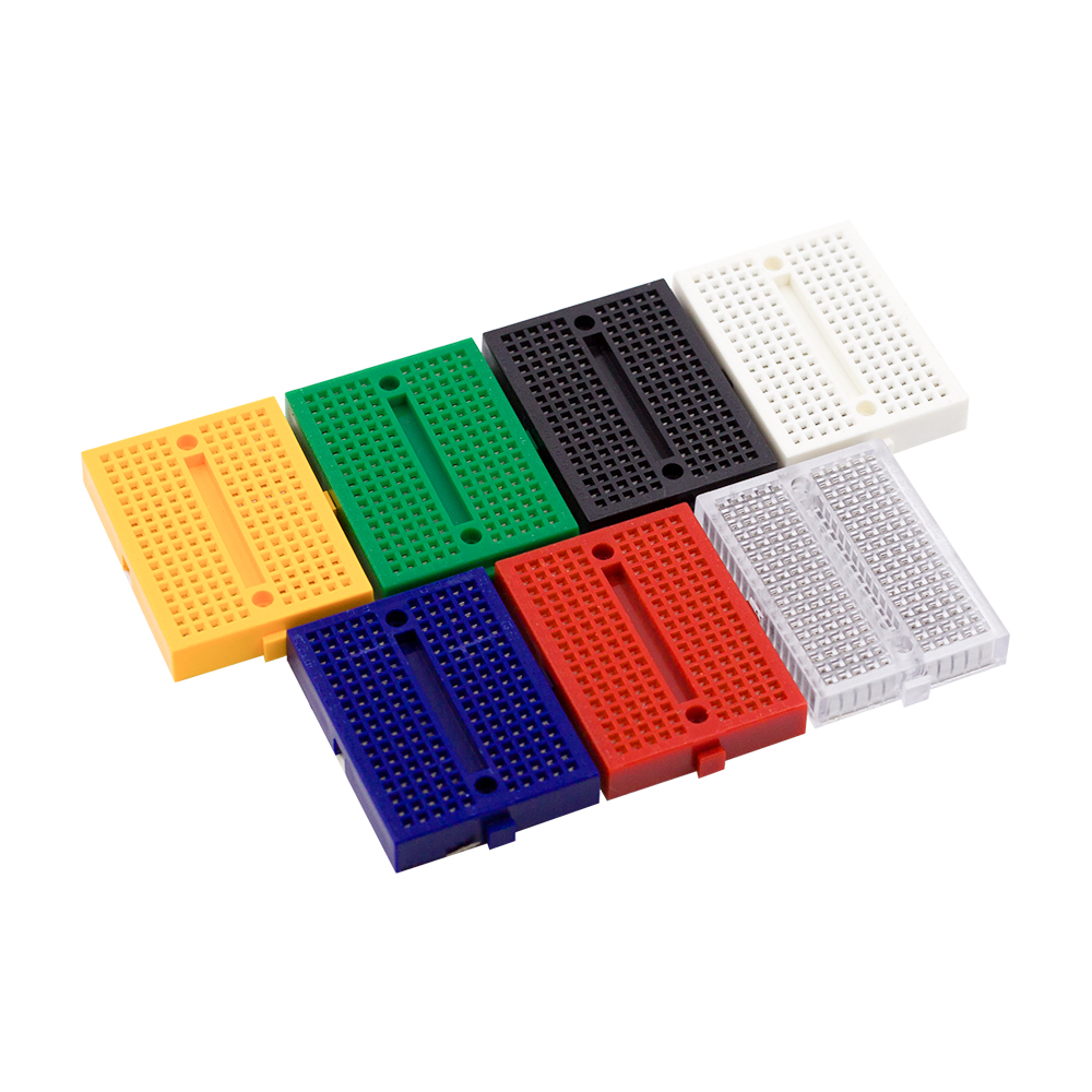 Taidacent 10 Pcs SYB-170 Mini Solderless Breadboard Mini Breadboard Experimental Platform Portable Breadboard