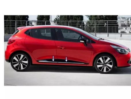 Renault Clio 4 хромированная Боковая дверь 2012 2013 2014 2015 2016 2017 2018 автомобильный Стайлинг 4 шт. комплект автомобильных аксессуаров для кузова автомобиля Спорт