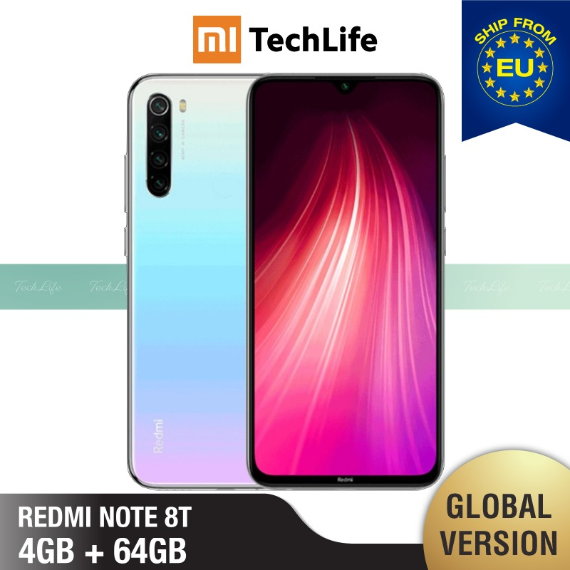 Global Version Xiaomi Redmi Note 8T 64GB ROM 4GB RAM (Brand New / Sealed) Note 8 T, Note8t, Note 8 Smartphone Mobile