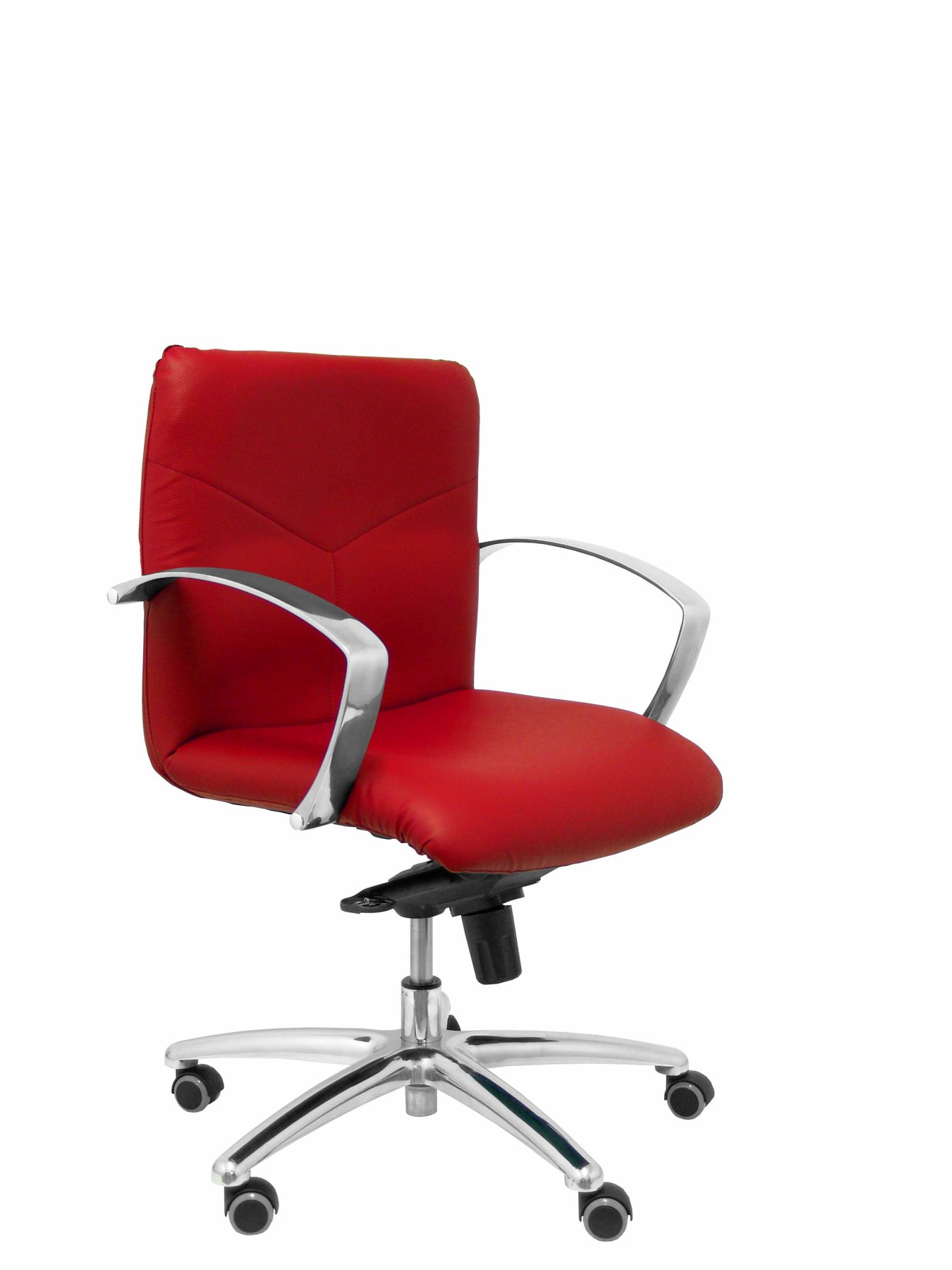 Armchair reception ergonomic with mechanism rocker and height adjustable Seat and back upholstered in similp|  - title=