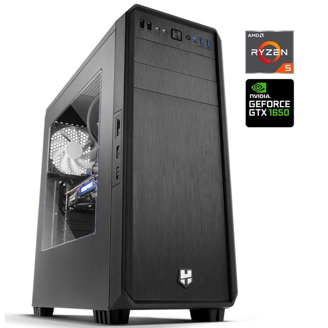 Computer PC GAMING R5GX AMD Ryzen 5 2600X DDR4 16GB SSD 240GB + HDD 1TB GTX 1650 4GB Gaming OC computer desktop games, USB