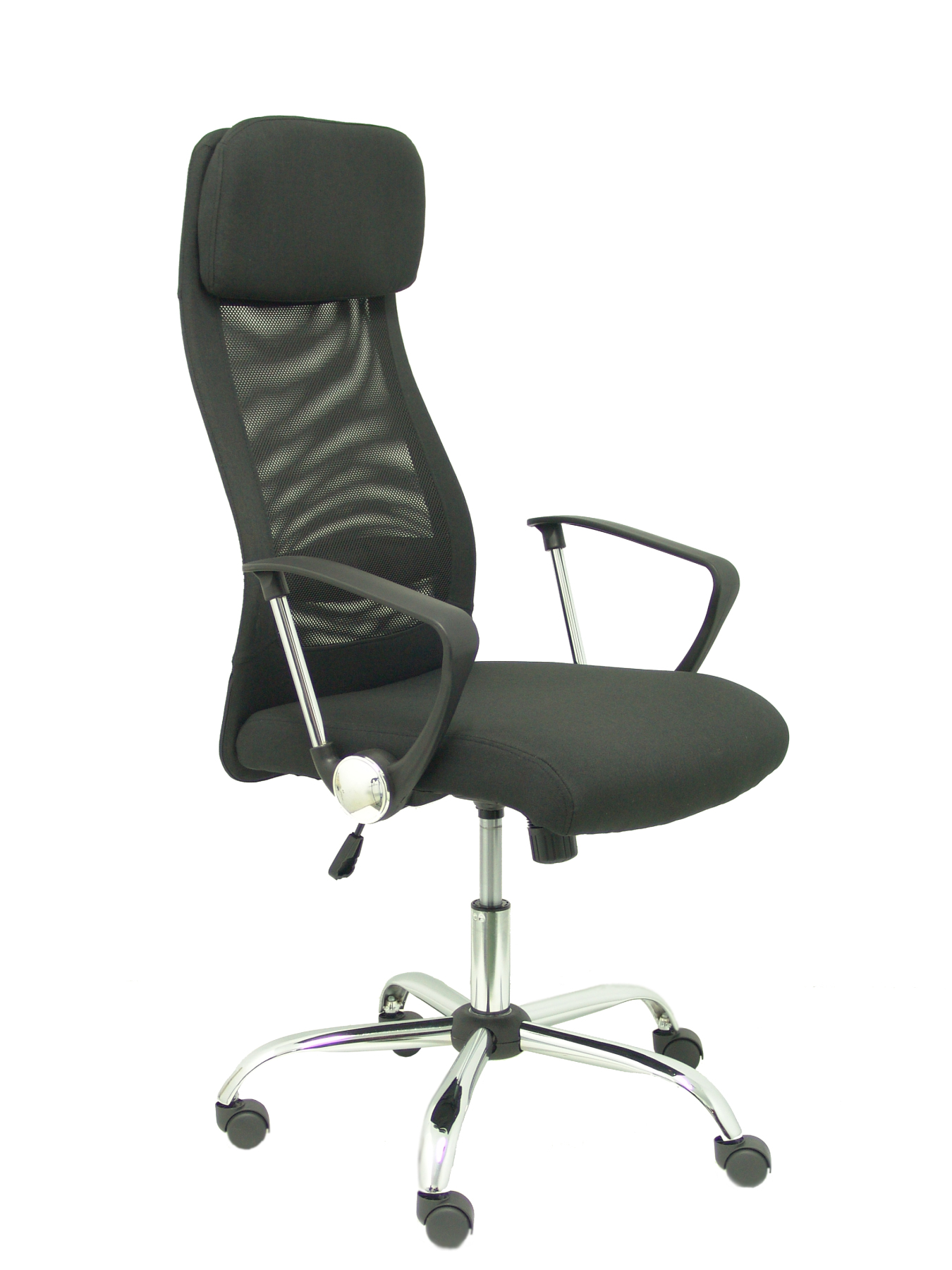 Chair Address Ergonomic With Mechanism Swingarm, Fixed Arms And Adjustable Height-Backing Mesh Transpi