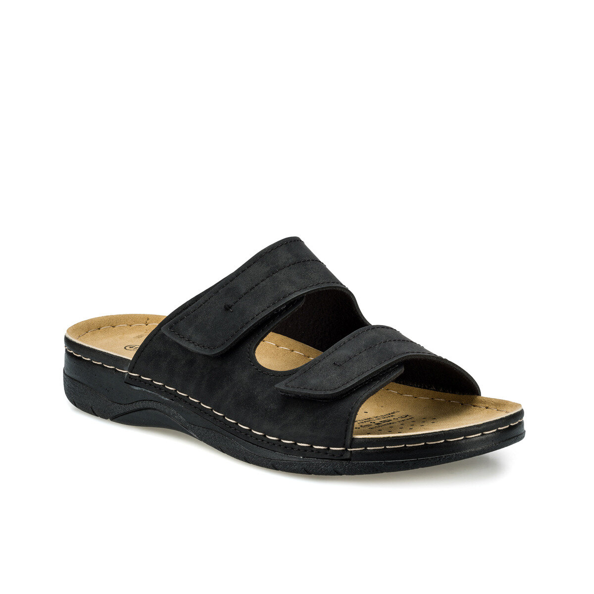 FLO JACKY Black Male Slippers KINETIX
