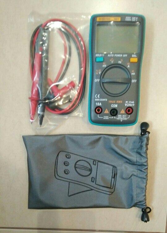 Digital Multimeter 6000 counts Backlight AC/DC Ammeter Voltmeter