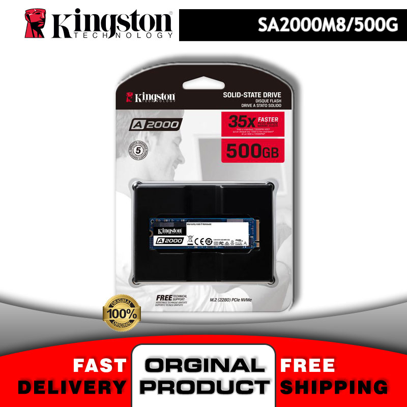 SSD M2 NVMe 500 Gb 2280 M.2 PCIe 500 Gb M 2 Hdd-Stick Kingston A2000 Nand 3D Disk PC Notebook Gaming Festplatte | ProData