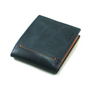 Мужской кошелек в американском стиле с отделением для мелочей, RFID, ручная работа в Испании, casanva, сделано в коже, ref. 15195