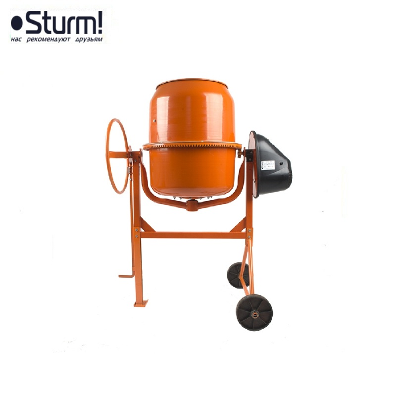 CM20180 Concrete mixer Sturm !, 1200 W, 180 l, 28 rpm, cast iron crown, plastic casing Job mixer Drum mixer Revolving-drum