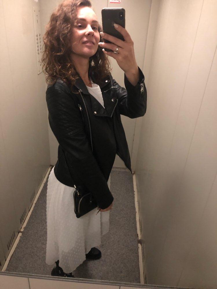 Ruffles Polka Dot Women Chiffon Dress Elastic Waist Flare Sleeve Female Long Vestidos A Line White Dress photo review