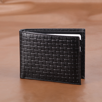 100% Genuine Leather Mens Wallet Premium Product Real Cowhide Wallets for Man Black Walet Purses