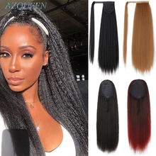 Yaki Ponytail Hair-Pieces Wrap Afro Heat-Resistant Clip-In AZQUEEN Kinky Synthetic