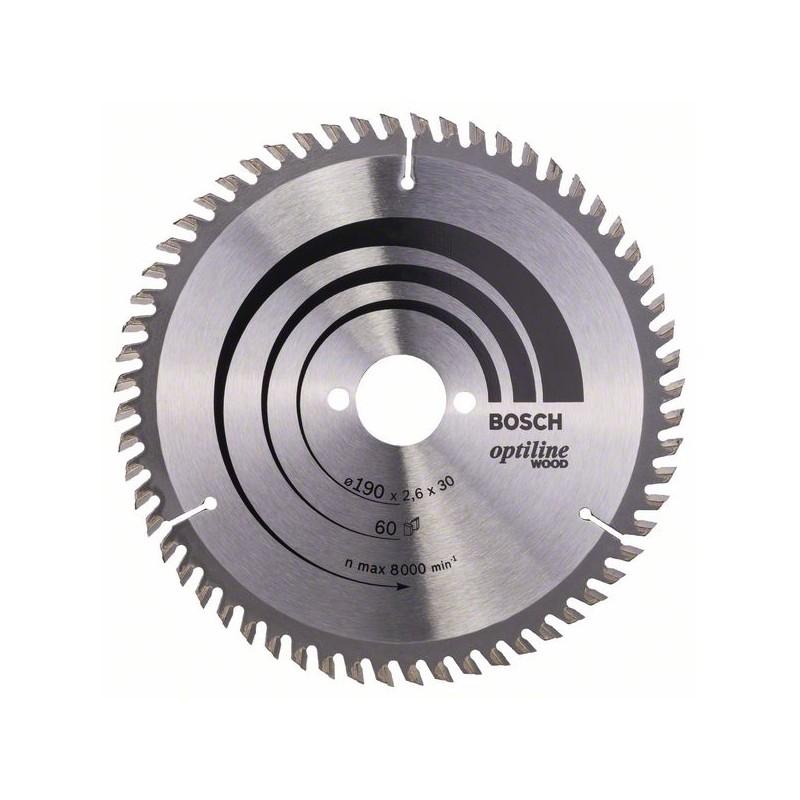 BOSCH-circulate Saw Blade Optiline Wood 190x30x2,6mm 60