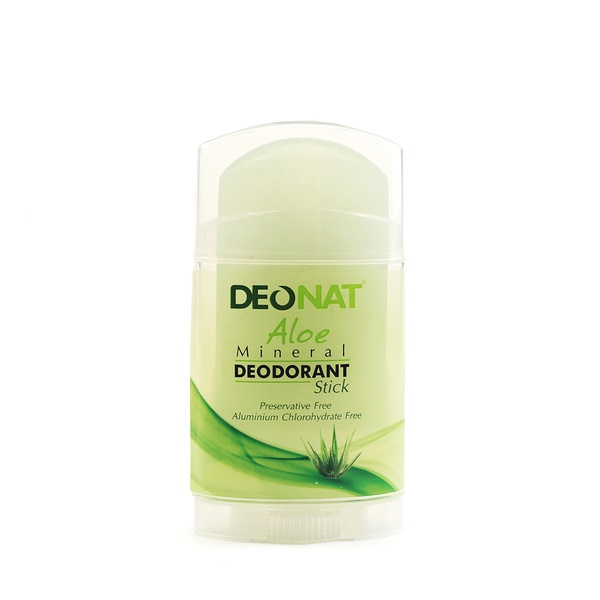 Deonat Deodorant Crystal With Natural Aloe Juice Stick Flat, Screw Out