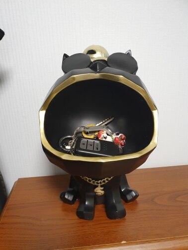 Happy Dog Miniature Table Storage Decoration photo review