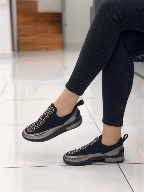 Elexus Vulcanized Quality Sneakers 2036 Guess Crystal Buckle Detailing Daily Stylish Flexible Luxury 2020 New Season