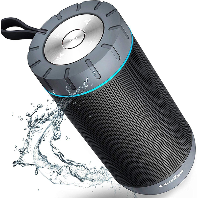COMISO Waterproof Bluetooth Speakers Outdoor Wireless Portable Speaker with 20 Hours Playtime Superior Sound speaker for iphone 1