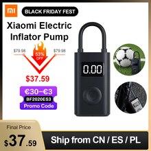Xiaomi Mi Mijia Portable intelligent numérique détection de pression des pneus pompe de gonflage électrique pour vélo moto voiture Football