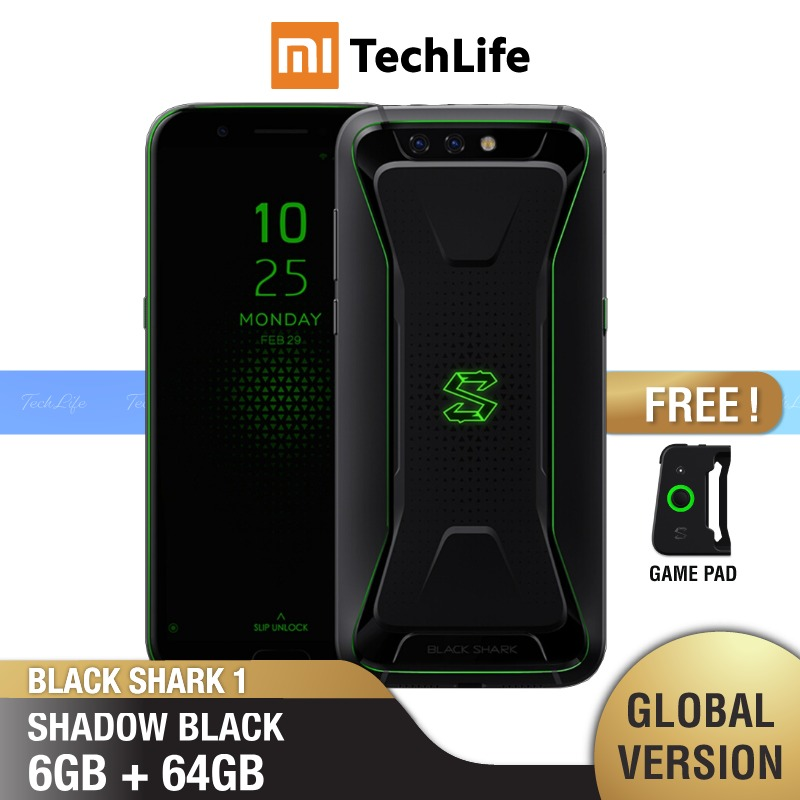 Global Version Xiaomi  Black Shark 1 64GB ROM 6GB RAM Gaming Phone (Brand New / Sealed) Blackshark1, Blackshark Smartphone Mobil