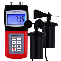 Digital Wind Air Anemometer 3 Cup Type Sensor Microprocessor Probe for Speed Flow Temperature & Direction w/ FREE Carrying Case