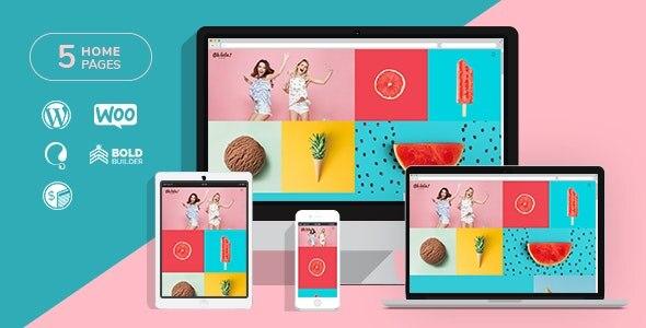 蛋糕店冰淇淋果汁奶茶店WordPress模板–Ohlala – v1.1.5