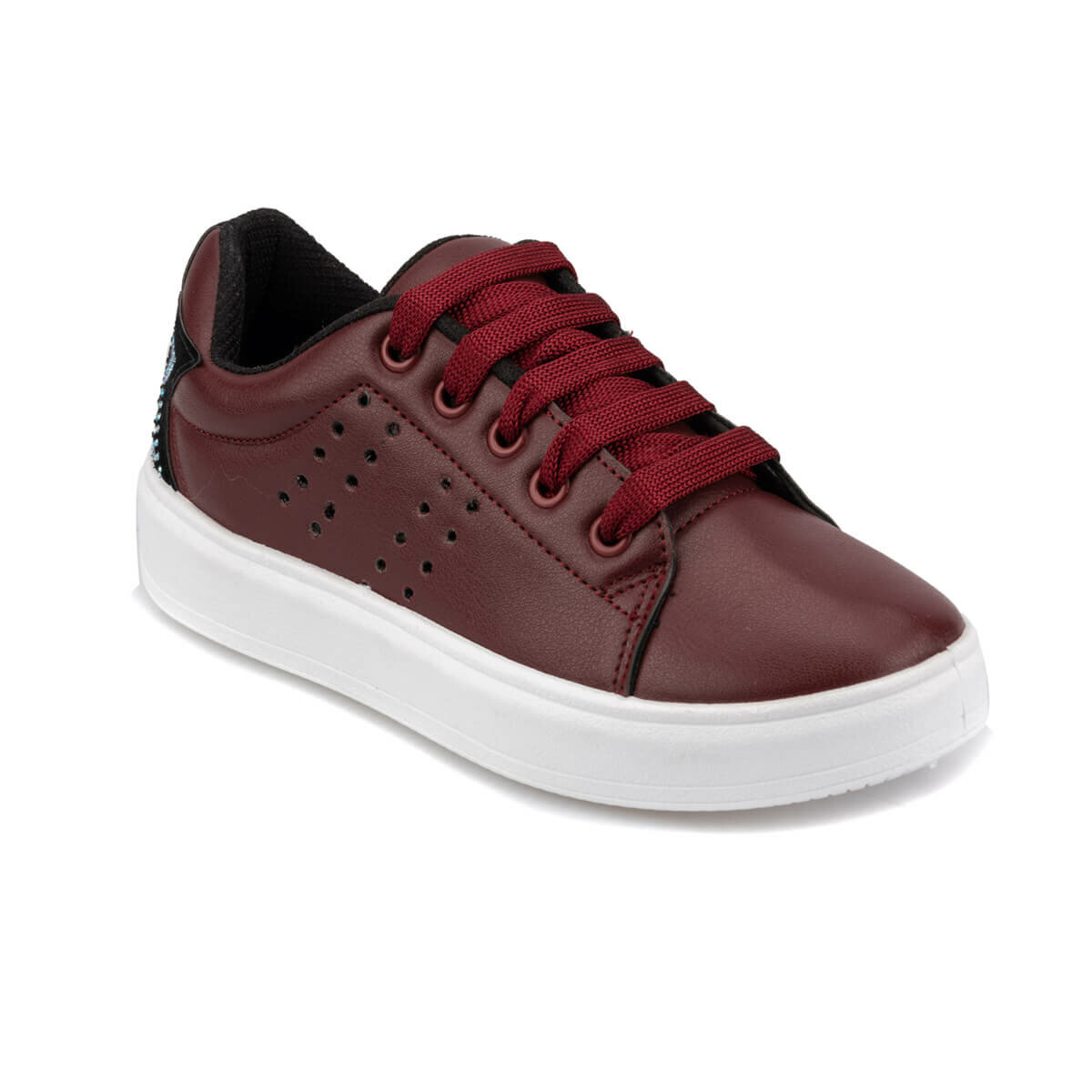 FLO 92.511913.F Burgundy Female Child Sneaker Shoes Polaris